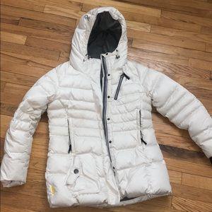 Loel White Down Puffer Coat